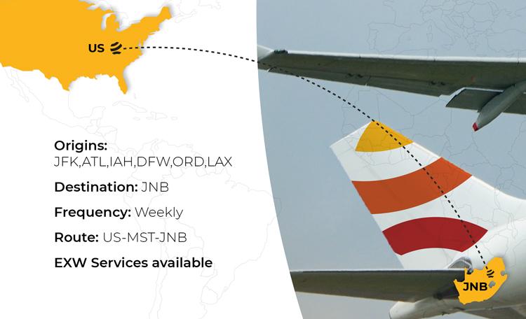 Aero Africa USA & EU – JNB Weekly B77 Freighter Service