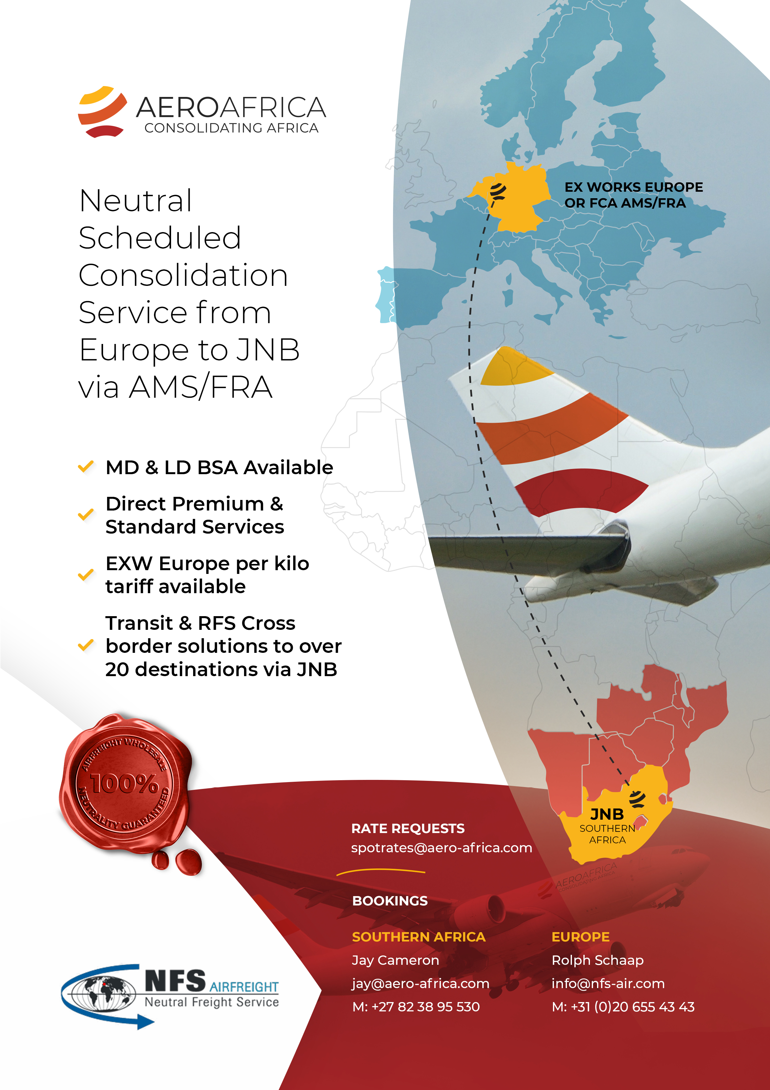Aero Africa launch scheduled airfreight consolidation service ex AMS and EXW Europe